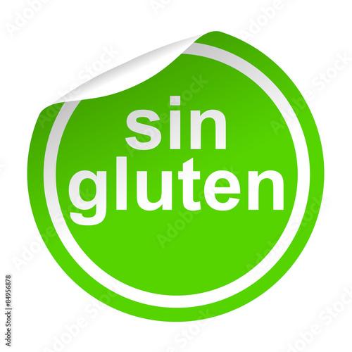 Valokuva  Pegatina verde texto sin gluten