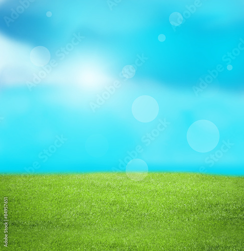 Foto op Plexiglas Turkoois summer landscape background