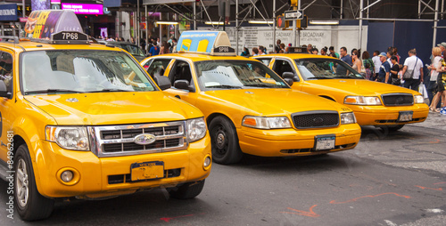 Staande foto New York TAXI Taxi di New York