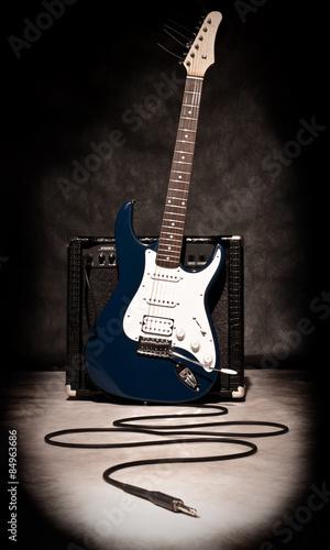 electric guitar and amplifier Wallpaper Mural
