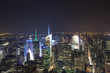 New York - Panorama notturno di Manhattan