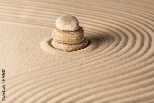 Foto op Plexiglas Stenen in het Zand Sand, zen, japan.