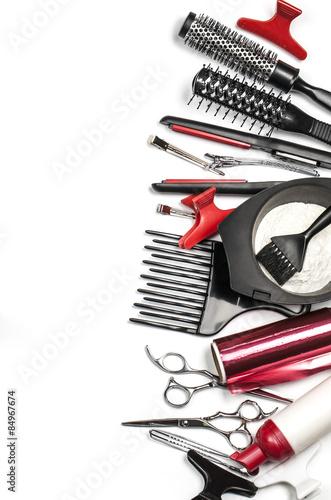 Obraz na plátně  Profesionální kadeřnické nástroje