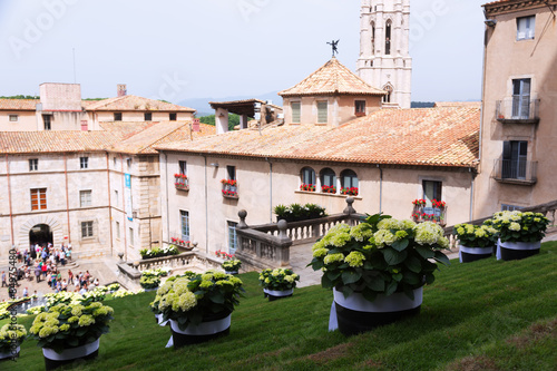 Festival of floral decorations in Girona