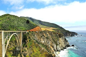 Panel Szklany Architektura bixby bridge big sur california USA