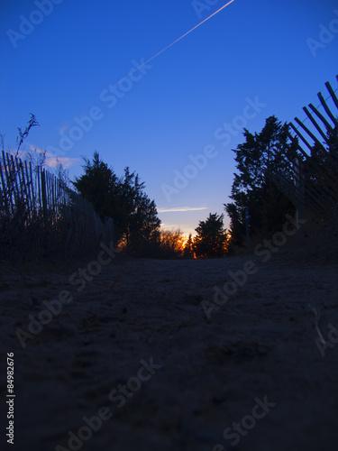 Fototapeta Sunset on the ocean. obraz na płótnie