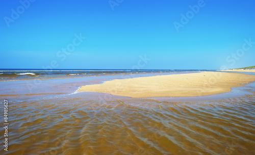 Fotografie, Obraz  Beach along the North Sea in spring
