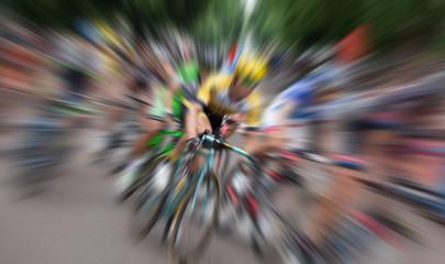 Panel Szklany Rower Ciclisti in gara