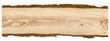 Leinwanddruck Bild - Nice wooden board on white background