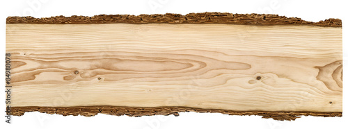 Foto  Nice wooden board on white background