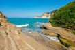 View of Cape Drastis on Corfu island, Greece