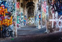 Graffiti Under An Abandoned Pi...
