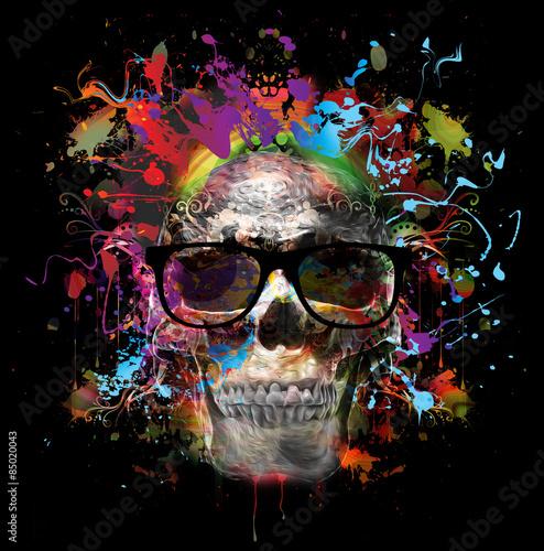 череп в очках