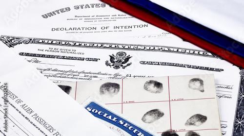 Photo Immigration Naturalization Documents