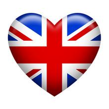 United Kingdom Insignia Heart Shape