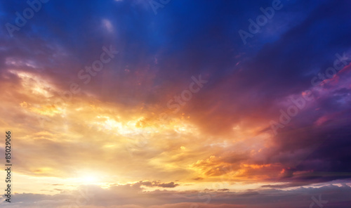 Wall mural - sunset sky