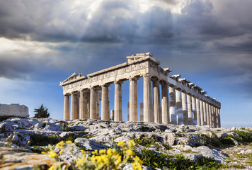 FototapetaParthenon temple on the Acropolis in Athens, Greece