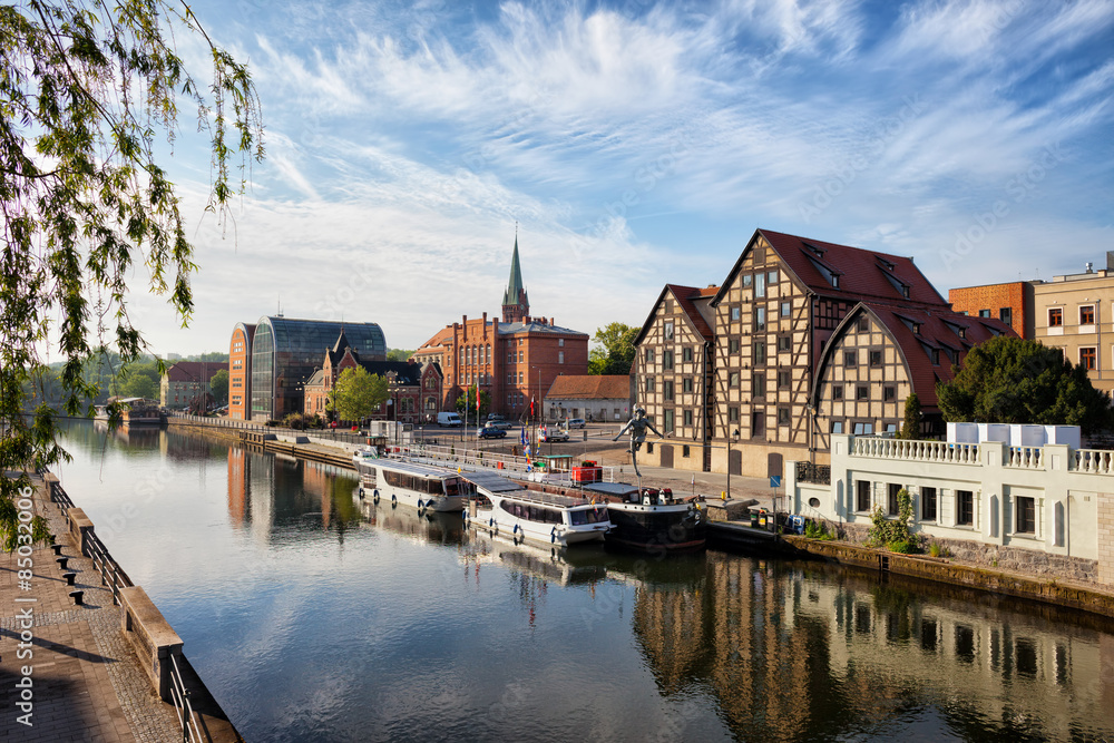Fototapety, obrazy: City of Bydgoszcz in Poland