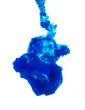 Blue ink isolated on white background