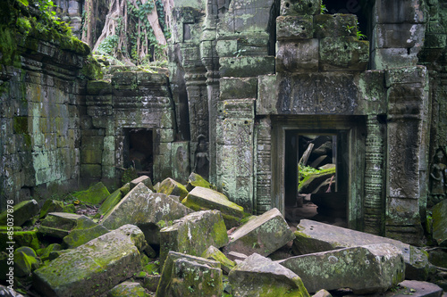 фотография  Crumbling Stone Architecture Ta Prohm Angkor Cambodia