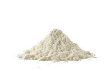 Heap Of Powdered Organic Milk Isolated On White