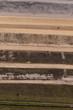 aerial view of Industrial waste reservoir