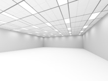 Empty Room Classic Interior With Lights. Architecture Background