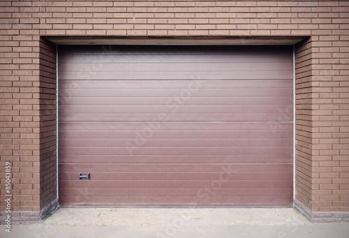 Metal brown gates.