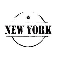 Black Vector Grunge Stamp NEW YORK