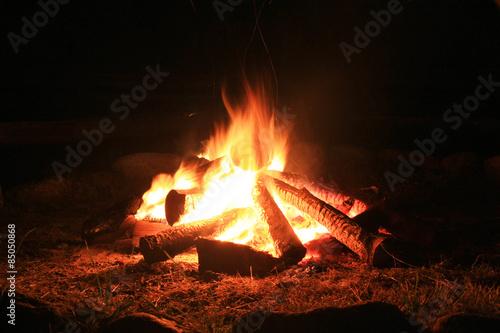 Campfire. Fotobehang