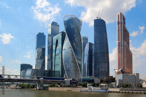 Keuken foto achterwand Moskou Moscow-City business center, Russia