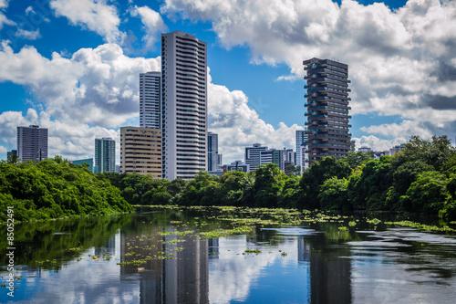 Cais da Jaqueira e Rio Capibaribe Fototapeta