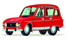 Caricatura Renault 4 Años Och...