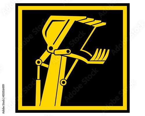 Fotografering  yellow excavator