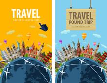 Travel, Journey, Trip Vector L...