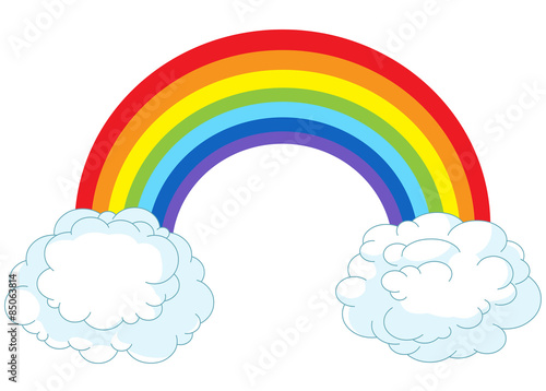 Wall Murals Fairytale World Rainbow