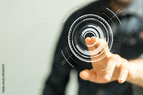 Fotografía  interface touch