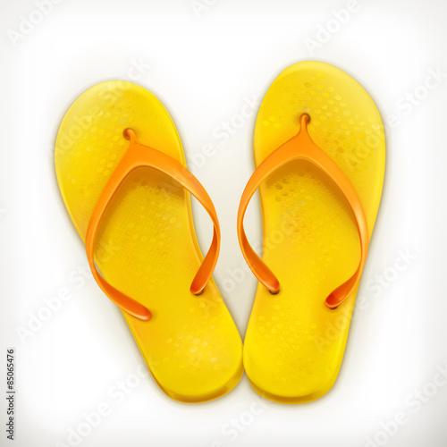 Flip flops, vector icon