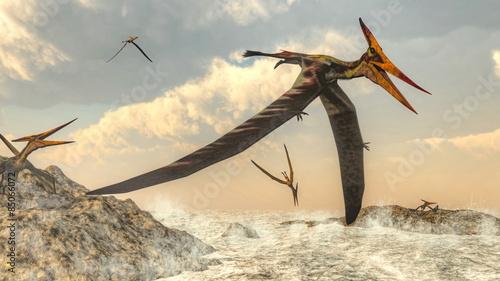 ptaki-pteranodon-latajace-renderowania-3d