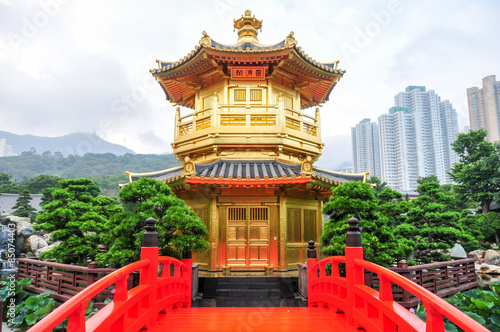 Photo  Golden Pavilion of Nan Lian Garden, Hong Kong