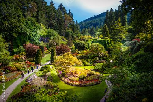 Foto op Canvas Tuin Sunken garden at Butchart Gardens