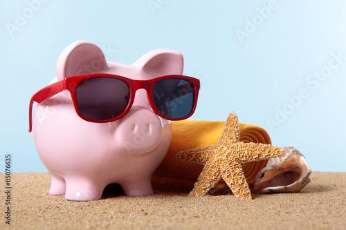 Fotografía  Alcancía vacaciones de la playa