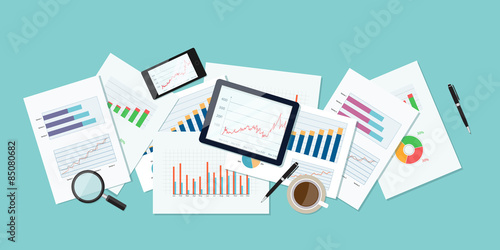 Photo  Vector  business finance and investment background