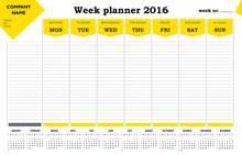 Week Planner 2016 Calendar - Y...