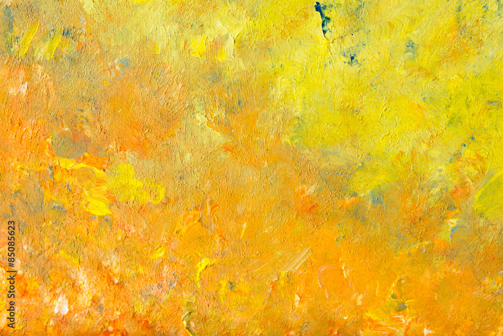 Fototapeta Abstract painting in impressionism style in close-up