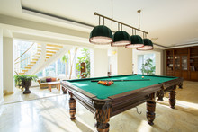 Close-up Of Billiard Table