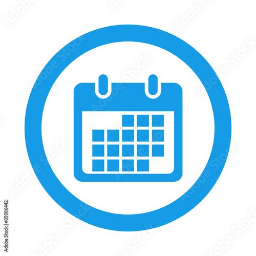 Simbolo De Calendario.Icono Redondo Simbolo Calendario Azul Buy This Stock