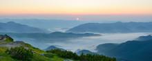 Morning Fog In The Carpathian Mountains