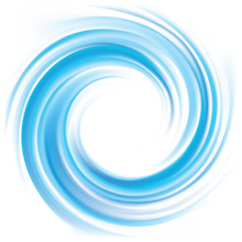 Vector Background Of Blue Swir...