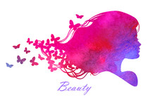 Watercolor_Head_with_hair_Vector_illustration_of_woman_beauty_salon